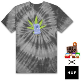 【HUF/ハフ×SOUTH PARK/サウスパーク】TOWELIE TIE DYE SS TEE Tシャツ / BLACK