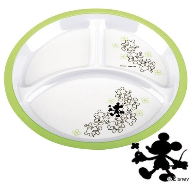 ■在庫限り・入荷なし■メラミン皿 ランチプレート ミッキーマウス クローバー メラミン製 27cm キャラクター ( ランチ皿 洋食器 カフェプレート )