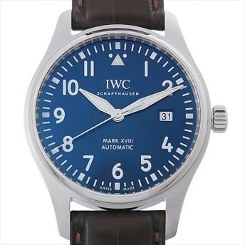 48回払いまで無金利 IWC パイロットウォッチ マーク18 プティプランス IW327004 中古 メンズ 腕時計 キャッシュレス5%還元