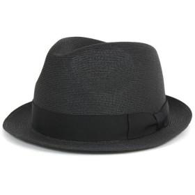 フェヌア ストローハット 帽子 中折れ FENUA ブラック