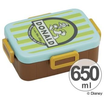 ■在庫限り・入荷なし■お弁当箱 ドナルドダック バッジコレクション 4点ロックランチボックス 1段 650ml