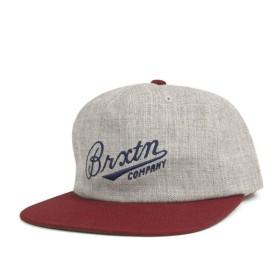 ブリクストン スナップバックキャップ フェンウェイ ヘザー グレー 帽子