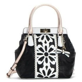 ゲス GUESS ショルダーバッグ VG453105 APRIL SHOWERS TURNLOCK SATCHEL BLACK BK