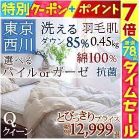 肌掛け布団 クィーン 東京西川 西川産業   洗える