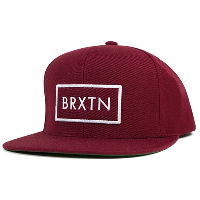 ブリクストン スナップバックキャップ リフト バーガンディー 帽子 [返品・交換対象外]