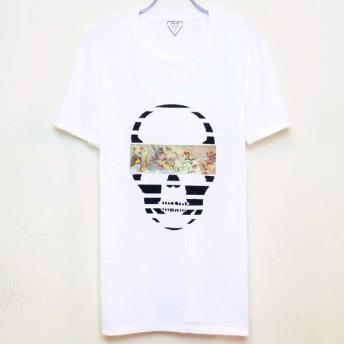 Mural Skull T-shirt  White
