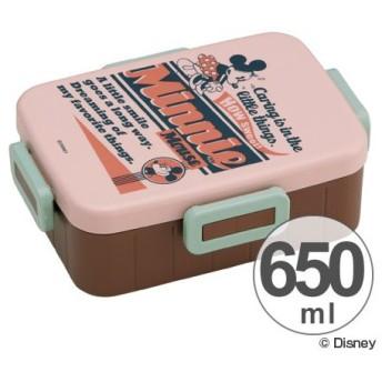 ■在庫限り・入荷なし■お弁当箱 ミニーマウス バッジコレクション 4点ロックランチボックス 1段 650ml
