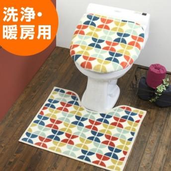 トイレ フタカバー トイレマット フェダン トイレ2点セット 洗浄 ( トイレタリー セット トイレカバー )