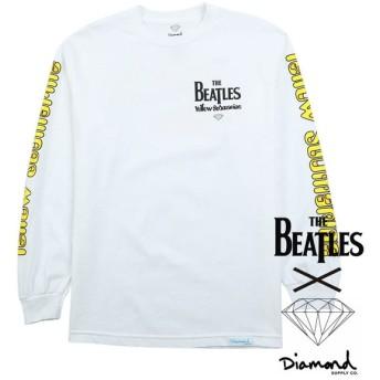 【Diamond Supply/ダイヤモンドサプライ X THE BEATLES/ビートルズ】YELLOW SUB LS ロングTシャツ / WHITE