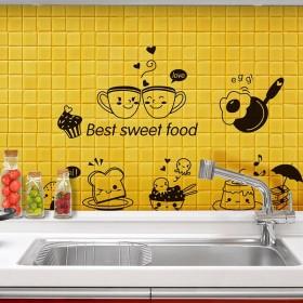 ウォールステッカー ウォールシール 壁紙シール キッチン 雑貨 小物 かわいい DIY 室内装飾 模様替え おしゃれ