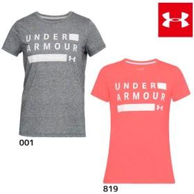2018年NEWモデル アンダーアーマー スレッドボーントレイングラフィックツイストクルー 1309894 レディース Tシャツ 半袖 ジョギング ランニング ヨガ 吸汗速乾