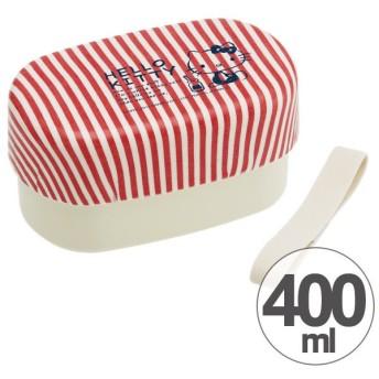 お弁当箱 2段 塗り布貼りかぶせ ハローキティ 70年代 小判型 400ml ( 弁当箱 ランチボックス 2段弁当箱 )