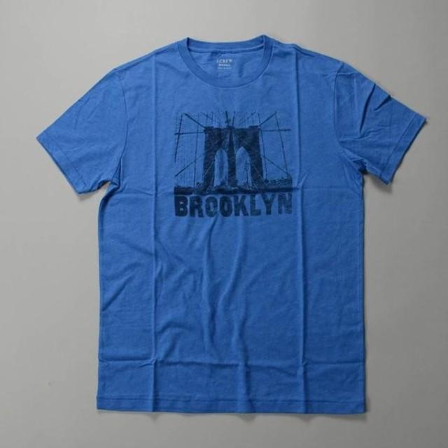 【FINAL SALE】J.CREW / ジェイクルー / 60/40 ブロークンイングラフィックTシャツBROOKLYN /  ブルーサファイア