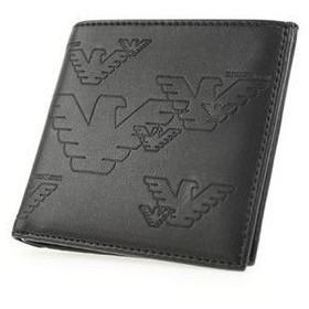 emporio armani エンポリオアルマーニ yemd47-yh187/80013 二つ折り財布(小銭入れ無)