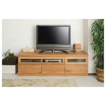 天然木テレビボード 150.5cm幅 ナチュラル色