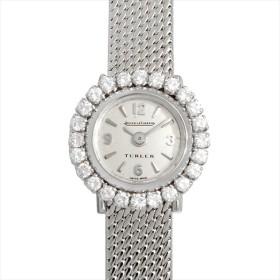 48回払いまで無金利 ジャガールクルト ラウンド ドレスウォッチ ベゼルダイヤ TURLER Wネーム アンティーク レディース 腕時計