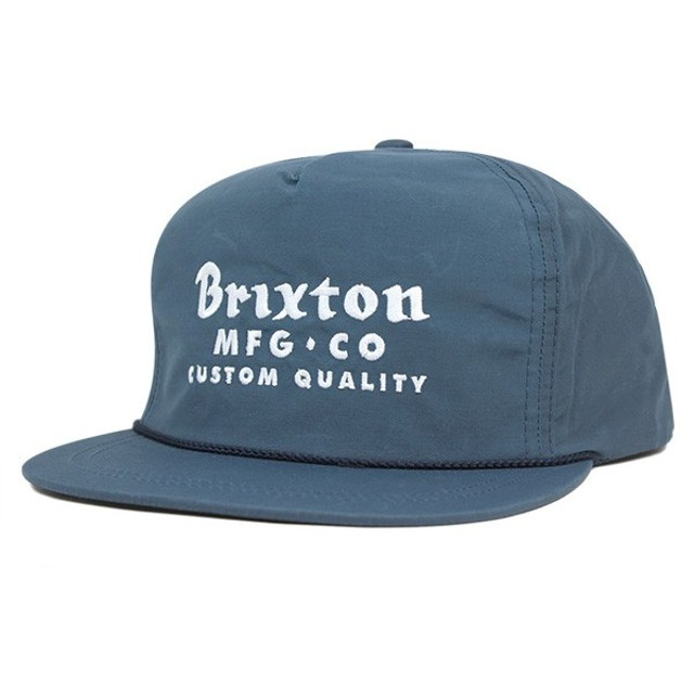 ブリクストン スナップバックキャップ サドラー スレートブルー 帽子 [返品・交換対象外]