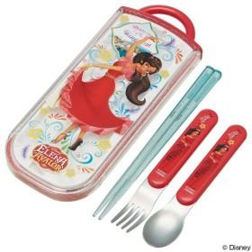 トリオセット 箸・フォーク・スプーン アバローのプリンセス エレナ スライド式 キャラクター ( 食洗機対応 子供用お箸 カトラリー )