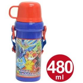 ■在庫限り・入荷なし■子供用水筒 ポケットモンスター XY 直飲み&コップ付 プラスチック製 480ml キャラクター