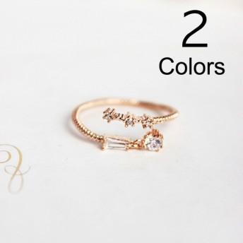 指輪 リング シンプル ゴールド シルバー アクセサリー デザイン レディース 女性用 おしゃれ かわいい 綺麗 ワンポイント 華やか 調節可能