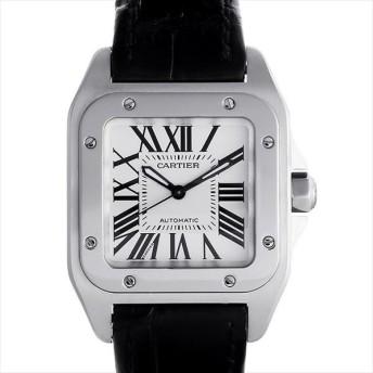 48回払いまで無金利 カルティエ サントス100 MM W20106X8 中古 ボーイズ(ユニセックス) 腕時計 キャッシュレス5%還元