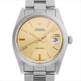 48回払いまで無金利 ロレックス オイスターデイト プレシジョン 89番 6694 シャンパン アンティーク メンズ 腕時計