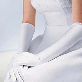シンプル ウエディンググローブ ロング手袋 ドレス用 グローブ ミドル丈 ウエディング ブライダルグローブ 結婚式 パーティー