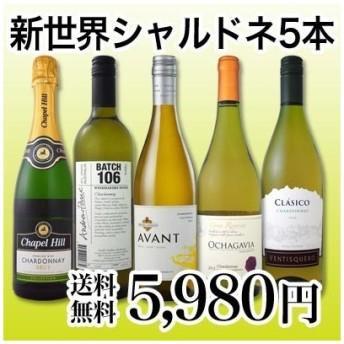 ワインセット 白ワイン 世界のシャルドネを飲み倒す 新世界のシャルドネづくし5本セット wine sparkling set chardonnay