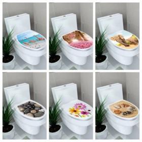 ウォールステッカー ウオールシール トイレ デコレーション DIY 室内装飾 模様替え 風景 フラミンゴ 花 像 石 プリント 雑貨 小物 かわいい