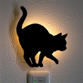 LEDライト Thats Light! CAT WALL LIGHT うずうず ( 足元灯 LED 猫 フット ライト ウォールライト )