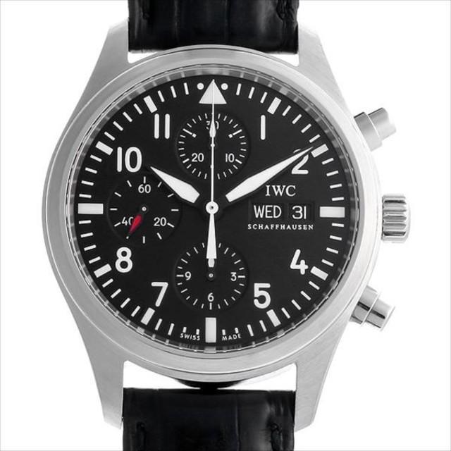 48回払いまで無金利 IWC パイロットウォッチ クロノグラフ IW371701 中古 メンズ 腕時計