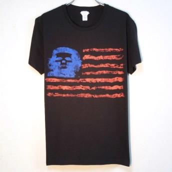 Skull Guevara US flag T-shirt black
