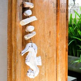オーナメント 壁飾り 流木 タツノオトシゴ ショート ビーチ 西海岸 男前 アジア工房