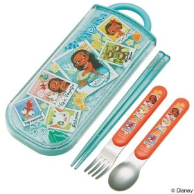 トリオセット 箸・フォーク・スプーン モアナ スライド式 キャラクター ( 食洗機対応 子供用お箸 カトラリー )