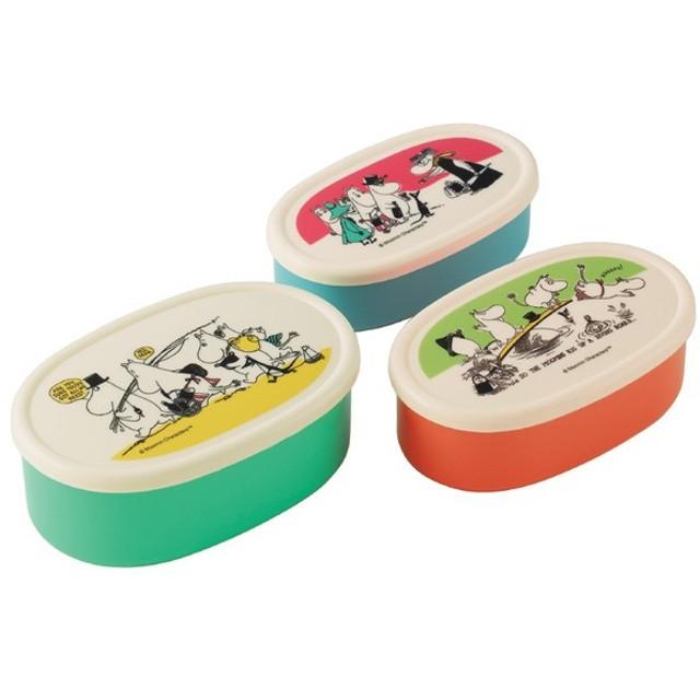 お弁当箱 シール容器 ムーミン パレット 3個入 子供用 キャラクター ( ランチボックス 保存容器 弁当箱 )