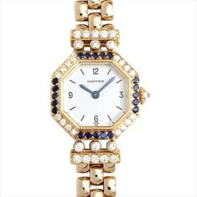 48回払いまで無金利 カルティエ アンディーニ ダイヤ&サファイア アンティーク レディース 腕時計