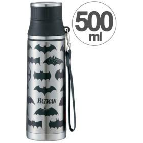 水筒 バットマン 直飲み ステンレスマグボトル 500ml ストラップ付き ( ステンレスボトル 保温 保冷 ステンレス製 )