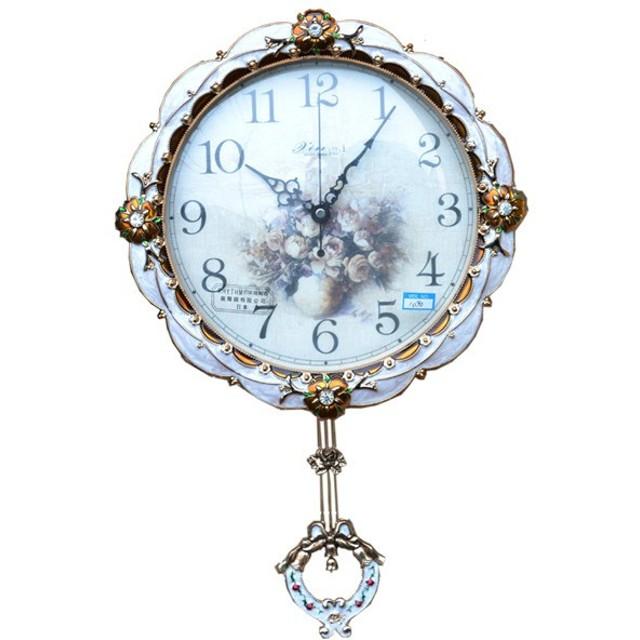 ベル型振り子の壁掛け時計:白1090(P)LS【送料無料】