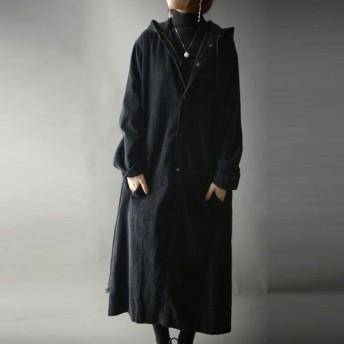 素材、長さ、風合い、デザイン抜群。コーデュロイフード羽織り・これぞ羽織り決定版。##メール便不可