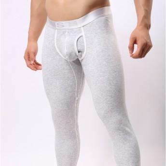 メンズインナー スパッツ ももひき ロングパンツ 裏ボア 暖かい 男性 メンズ 男性用 下着 シンプル ウエストゴム ワンサイズ小さめ 無地 おしゃれ