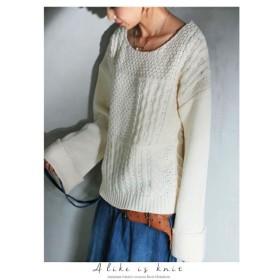 袖ボリュームで最旬の華奢はツクレル。デザインニット・再再販。袖コンシャス ##「G」メール便不可