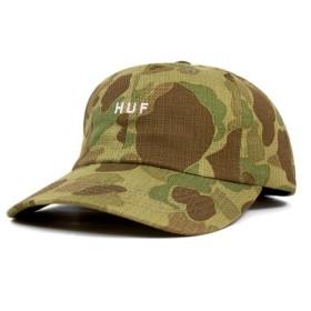 HUF(ハフ) ストラップバックキャップ オリジナル ロゴ ジャパン カモ ダック 帽子