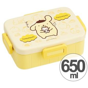 お弁当箱 ポムポムプリン 4点ロックランチボックス 1段 650ml キャラクター ( 食洗機対応 弁当箱 4点ロック式 )