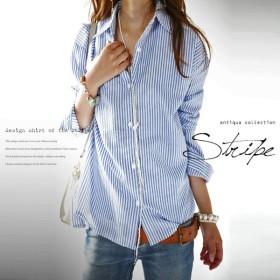 マニッシュのはざま。otonaストライプシャツ##・再販。メール便不可