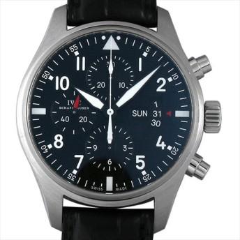 48回払いまで無金利 IWC パイロットウォッチ クロノグラフ IW377701 中古 メンズ 腕時計 キャッシュレス5%還元