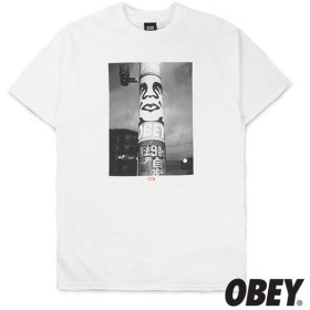 【OBEY/オベイ】POSTER POLE PHOTO Tシャツ / WHITE