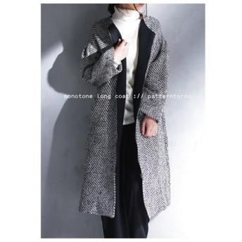 袖デザイン コート アウター クルーネック 袖ボリュームコート・再再販。##「G」メール便不可