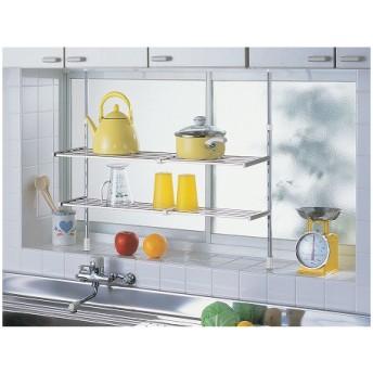 ■在庫限り・入荷なし■突っ張り棚 2段 伸縮タイプ キッチン 収納
