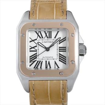 48回払いまで無金利 カルティエ サントス100 MM W20107X7 中古 ボーイズ(ユニセックス) 腕時計 キャッシュレス5%還元