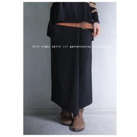 ミディ丈で女性らしい足元。コットンスリットスカート・再再販。綿100% ##メール便不可